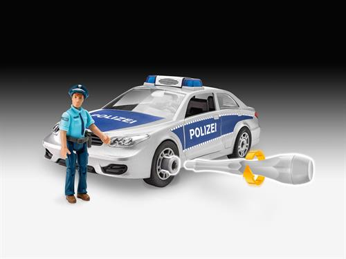 Police Car with figure  - 1:20 - Junior Kit - Revell