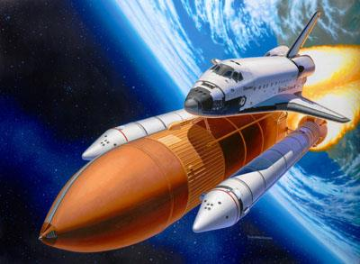 Space Shuttle Discovery + Booster Rockets - 1:144 - Revell