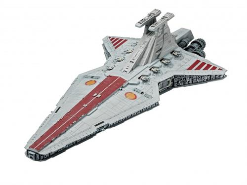 STAR WARS Gift-Set Republic Star Destroyer (Indhold: 1 model, 6 dåser basismaling, lim og pensel) - 1:2700 - Revell