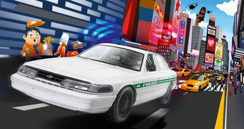 "Ford Police Car - 1:25 - ""Build & Play"" - Revell (Udsolgt fra fabrik)"