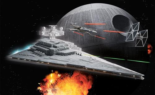 "STAR WARS Imperial Star Destroyer m/lys & lyd - 1:4000 - ""Build  & Play model kit"" - Revell"