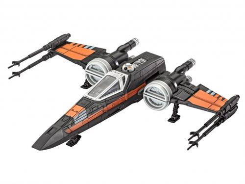 "STAR WARS Poe's X-wing Fighter m/lyd - 1:78 - ""Build  & Play model kit"" - Revell (Udsolgt fra fabrik)"