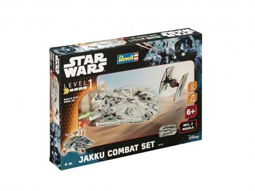 "STAR WARS Jakku Combat Set m/lys & lyd - 1:100 - ""Build  & Play model kit"" - Revell (Udsolgt fra fabrik)"