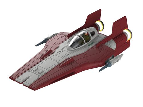 "STAR WARS Resistance A-Wing Fighter, rød m/lys & lyd - 1:44 - ""Build  & Play model kit"" - Revell"