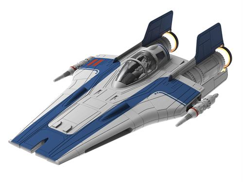 "STAR WARS Resistance A-Wing Fighter, blå m/lys & lyd - 1:44 - ""Build  & Play model kit"" - Revell"