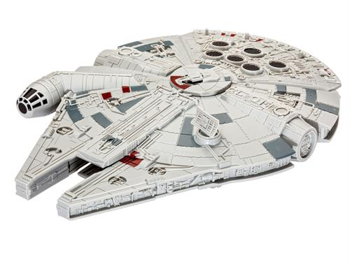 "STAR WARS Millennium Falcon m/lys & lyd - 1:164 - ""Build  & Play model kit"" - Revell"