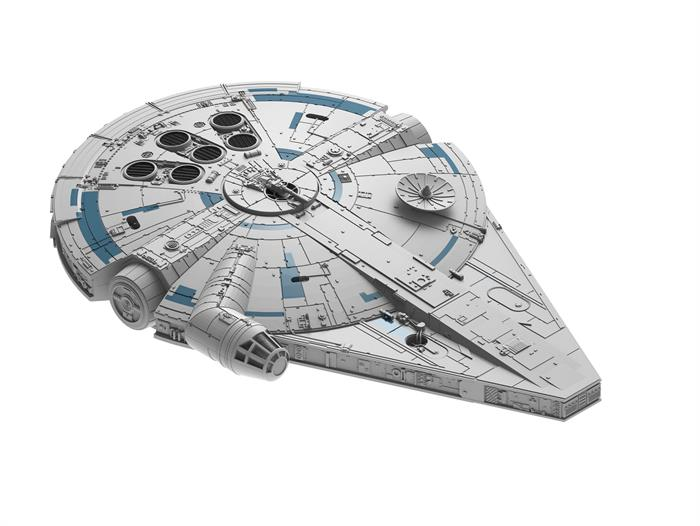 "STAR WARS Millennium Falcon ""Solo"" m/lys & lyd - 1:164 - ""Build  & Play model kit"" - Revell"