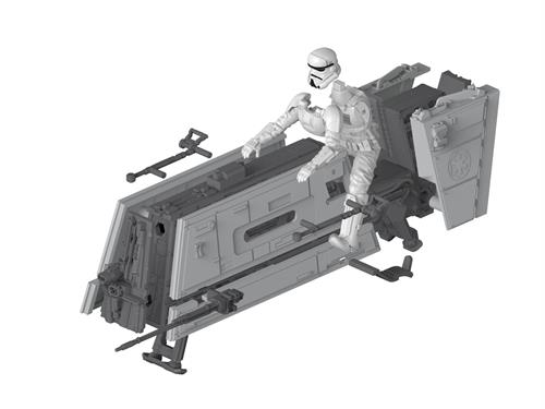"STAR WARS Imperial Patrol Speeder (2 stk.) ""Solo"" m/lys & lyd - 1:28 - ""Build  & Play model kit"" - Revell"