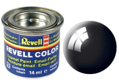 (07) - Black gloss (RAL 9005) - 14 ml - Revell