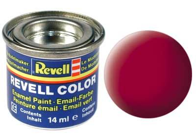 (36) - Carmine red mat (RAL 3002) - 14 ml - Revell