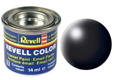 (302) - Black silk mat (RAL 9005) - 14 ml - Revell