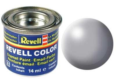 (374) - Grey silk mat (RAL 7001) - 14 ml - Revell