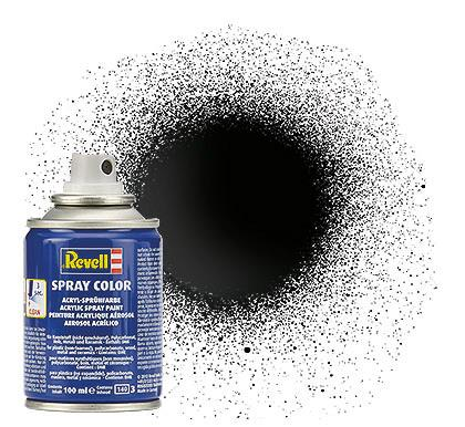 (07) - Spray Color, Black gloss (RAL 9005) - 100 ml - Revell