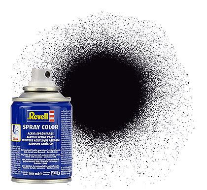 (08) - Spray Color, Black mat (RAL 9011) - 100 ml - Revell