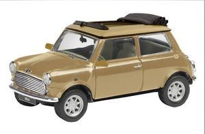 Mini Cooper, åben soft top, brun metal - Lim. 1000 - 1:43 - Schuco