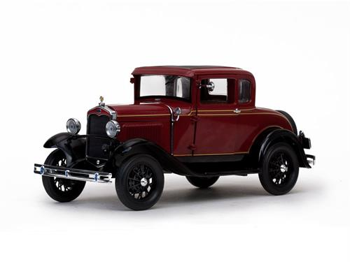 1931 Ford A-Model Coupe, dark red (Rubelite Red) - 1:18 - Sun Star