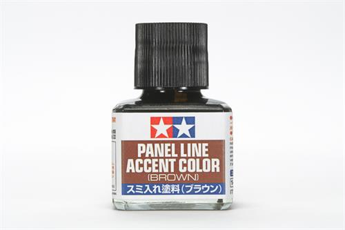 Panel Line Accent Color - Brown - 40ml - Tamiya