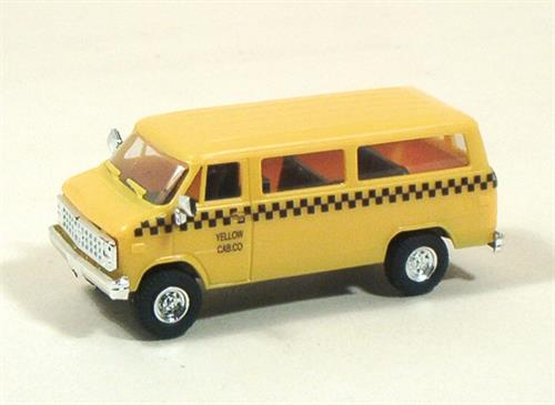 "Chevy Van, ""Yellow Cab"" (Taxi) - H0 - Trident"