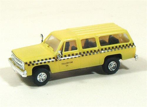 "Chevy Suburban, ""Yellow Cab"" (Taxi) - H0 - Trident"