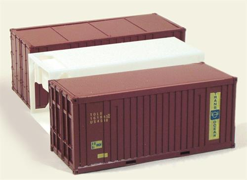 "3 x 20' Container ""US Army"" - H0 - Trident"