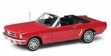 Ford Mustang Cabrio 1964 1/2, red - 1:18 - Welly
