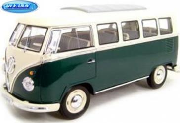 VW Bus T1 (1962), green - 1:18 - Welly