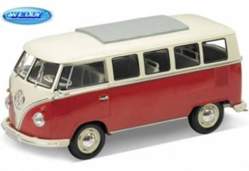 VW Bus T1 (1962), red - 1:18 - Welly