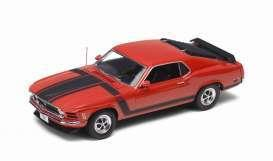 1970 Ford Mustang Boss 302, red - 1:24 - Welly