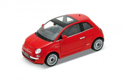 2007 Fiat 500, red - 1:24 - Welly