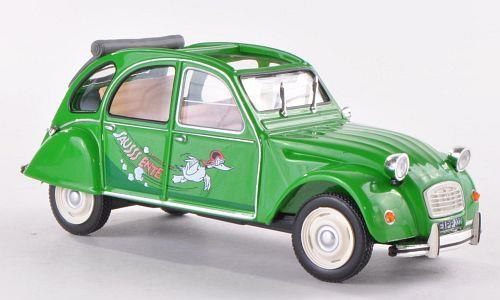 "Citroen 2 CV ""Sausss Ente"" (1987), green - 1:43 - WhiteBox"