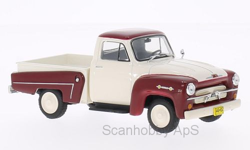 Chevrolet 3100 Pick Up (1958), white/dark red - 1:43 - WhiteBox