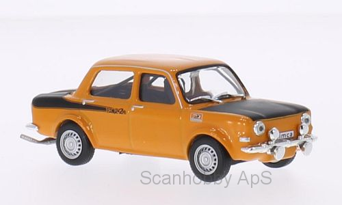 Simca Rallye 2 (1976), orange/mat-black 1:43 - WhiteBox