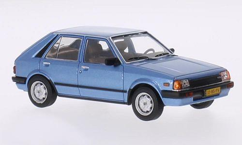 Mazda 323 (1982), metallic-blue - 1:43 - WhiteBox