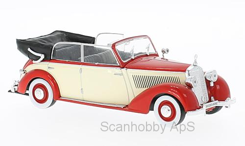 Mercedes-Benz 230 (W153) Cabriolet (1939), red/beige - 1:43 - WhiteBox
