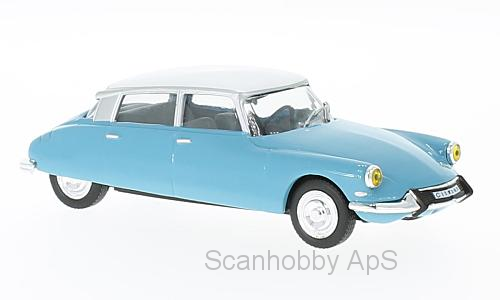 Citroen DS 19 (1966), light blue/white - 1:43 - WhiteBox