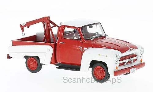Chevrolet 3100 Tow Truck (1956), red/white - 1:43 - WhiteBox