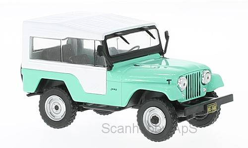 Jeep CJ-5 (1963), light green/white - 1:43 - WhiteBox