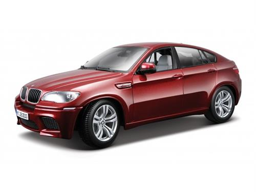 BMW X6 M (2008), red metallic - 1:18 - Bburago