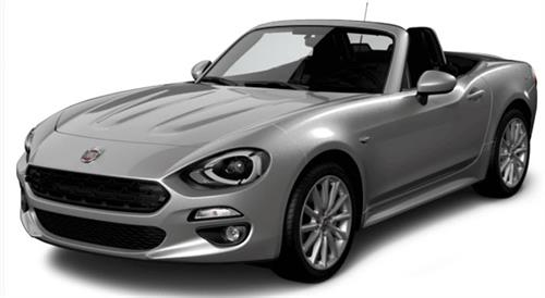 Fiat 124 Spider, metallic light gray - 1:24 - Bburago