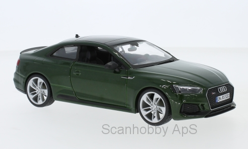 Audi RS 5 Coupe 2019, green metallic - 1:24 - Bburago