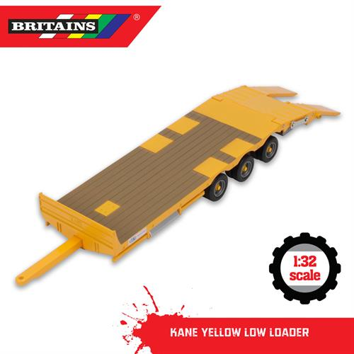 Kane Low Loader, yellow - 1:32 - Britains