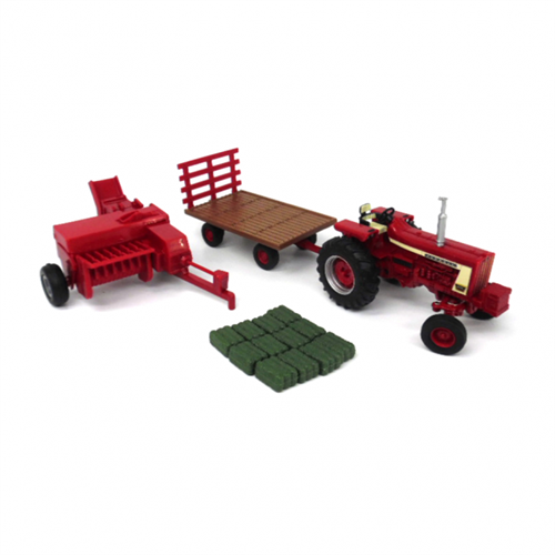 IH Farmall 806 - 3 piece haying set - 1:32 - Ertl