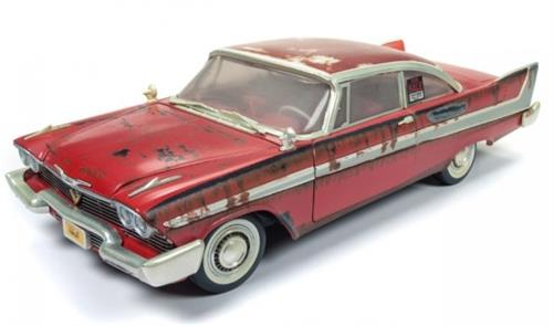 "1958 Plymouth Fury ""Christine"" dirty version - 1:18 - Auto World"