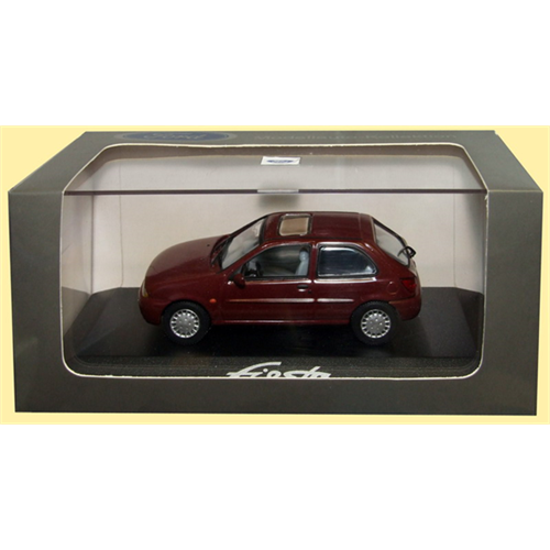 Ford Fiesta Mk4 (1995) 3dr, dark red - 1:43 - Ford (Minichamps)
