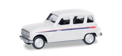 "Renault R4 ""Jogging"", stripes red/blue - 1:87 / H0 - Herpa"