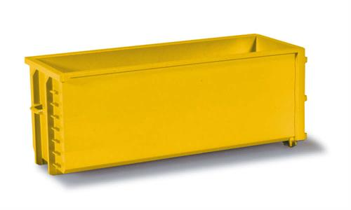 2x Transport container, yellow - 1:87 / H0 - Herpa