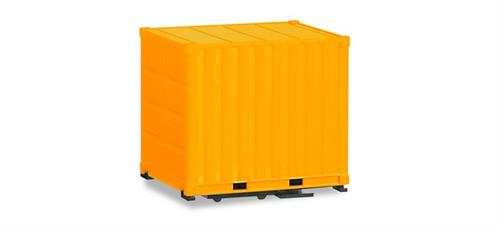 2x 10 ft. Container with ground plate - 1:87 / H0 - Herpa