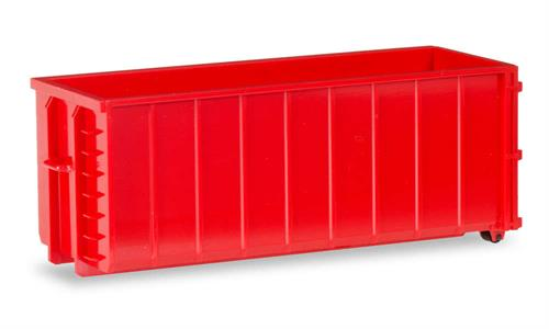2x Transport container ribbed, red - 1:87 / H0 - Herpa
