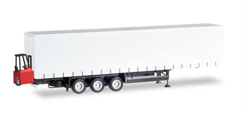 Schmitz Curtain canvas trailer, 3-axle with forklifter - 1:87 / H0 - Herpa