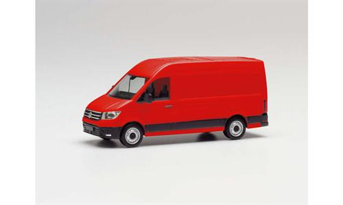 VW Crafter 2016 high roof, red - 1:87 / H0 - Herpa